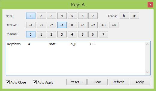 FreePiano | Keyboard map