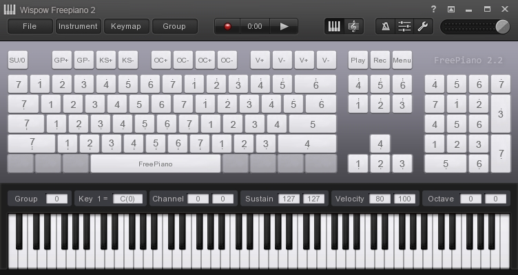 FreePiano | Advanced virtual MIDI keyboard